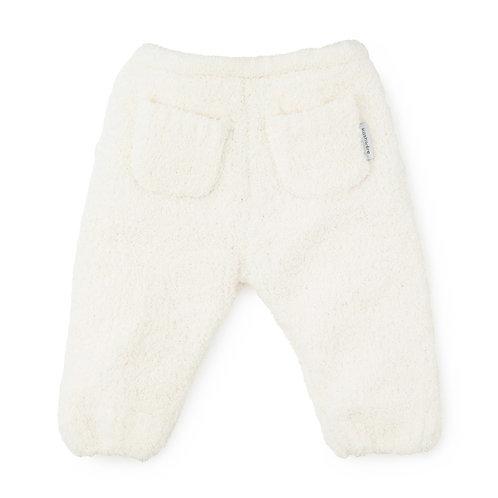 BABY PLUSH PANTS CREAM 12-18 months