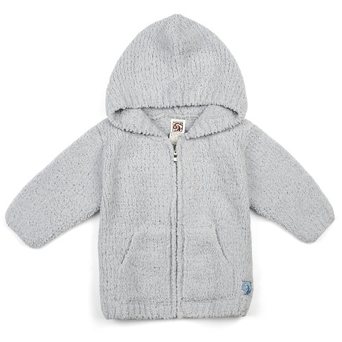 BABY PLUSH HOODIES BLUE  12-18 months