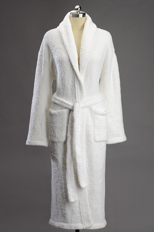 SIGNATURE SHAWL COLLAR ROBES White X-Large