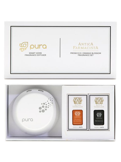 PURA SMART HOME DIFFUSER PROSECCO & ORANGE BLOSSOM FRAGRANCE SET