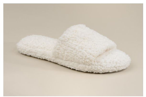 WOMEN'S SLIPPERS CREME L/X-LARGE  - SIZE 8-11