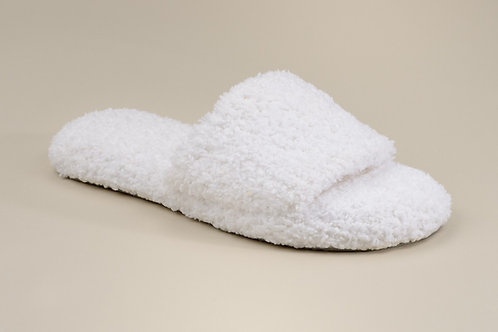 WOMEN'S SLIPPERS WHITE S/M (SIZE 4-7)
