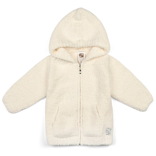 BABY PLUSH HOODIES CREAM 12-18 months