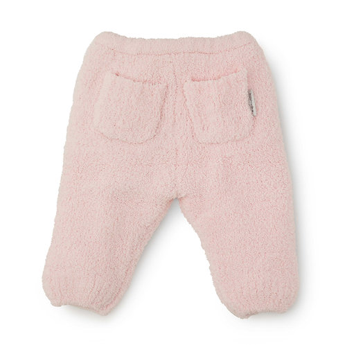 BABY PLUSH PANTS PINK  6-12 months