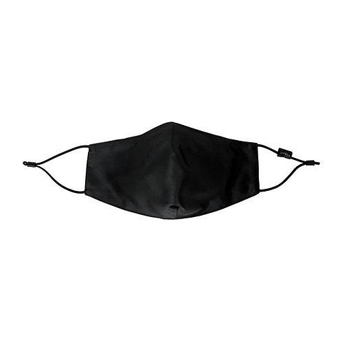 Cilque 100% Silk Plush Face Mask Black