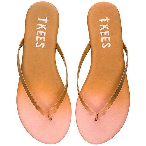 TKEES POWDERS Passion Pink  Flip Flops