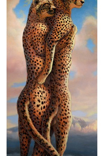 Cheetah In Love  print