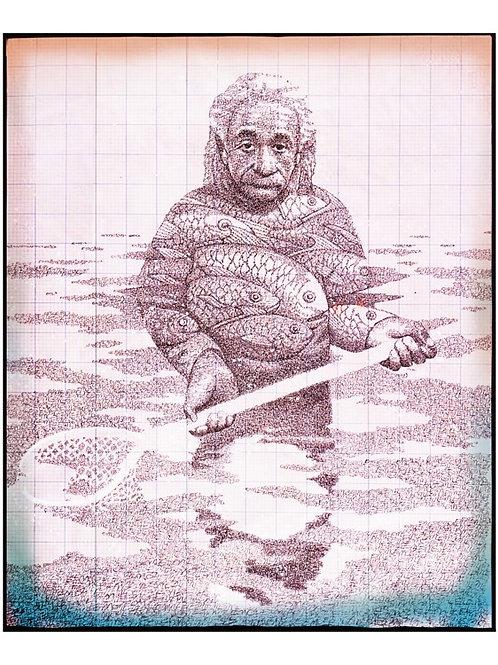 Einstein Fishing  print