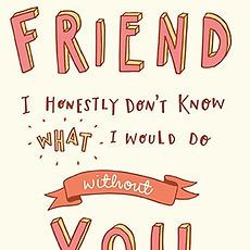 Jen Roffe Best friend thank you greetings card