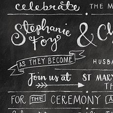 Jen Roffe chalkboard style wedding invitations