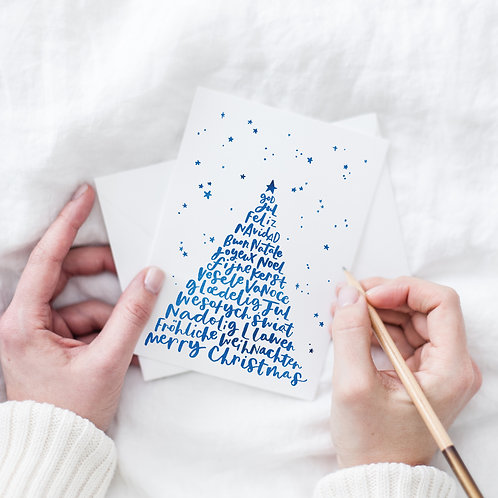 European languages Christmas card