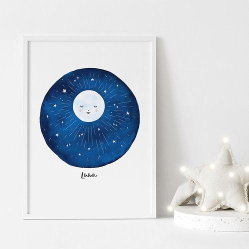 Moon phase print