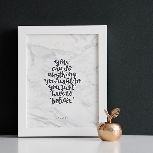JUST BELIEVE - INSPIRATIONAL PRINT