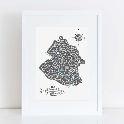 ST ALBANS MAP