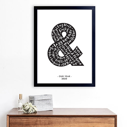 'OUR YEAR' PERSONALISED AMPERSAND PRINT
