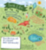 Jen Roffe illustrated map of the park outdoors