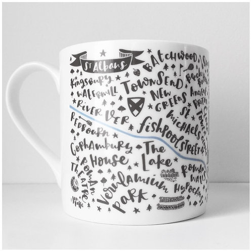 ST ALBANS BONE CHINA MUG