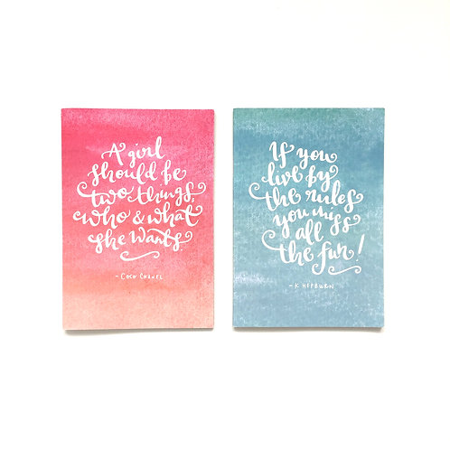 Inspirational Quote Notebooks