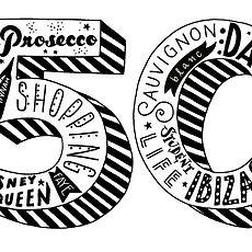 Jen Roffe Personalised birthday age print 50