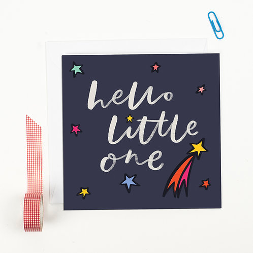 New Baby Card - Hello Little One