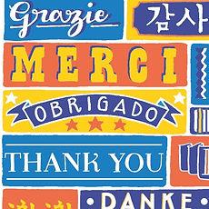 Jen Roffe Magazine Illustration hand lettering Thank you