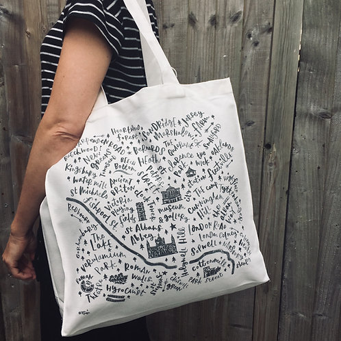 St Albans MAP -  CANVAS BAG