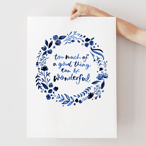 Wonderful A3 print