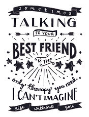 Jen Roffe Personalised Best Friends Print