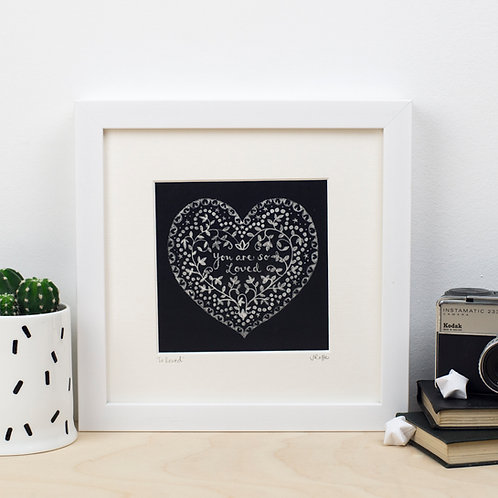 'SO LOVED' FRAMED PRINT