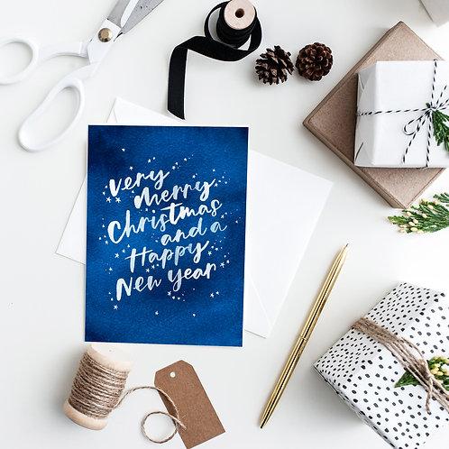 Stella Starry night Christmas Card