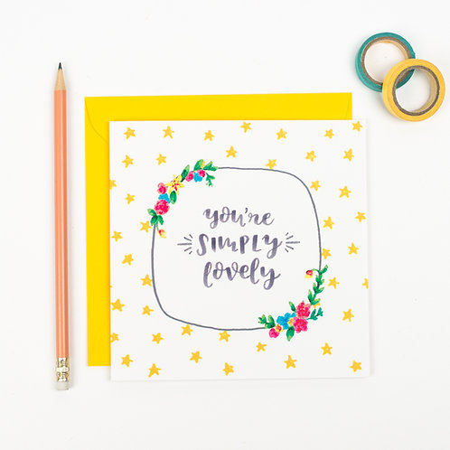 SIMPLY LOVELY FRIENDSHIP CARD