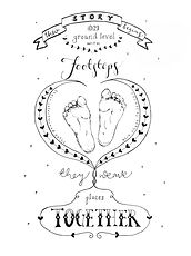 Jen Roffe personalised christening hand-drawn commission