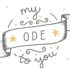 Jen Roffe logo design banner my ode to you personalised poem print