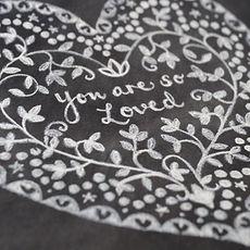 Jen Roffe framed illustrations heart