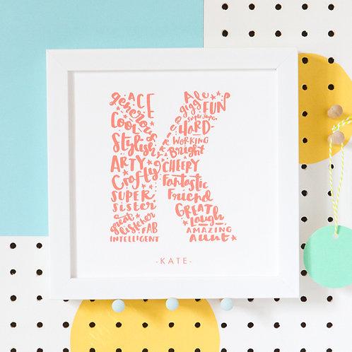 Personalised Best friend Print