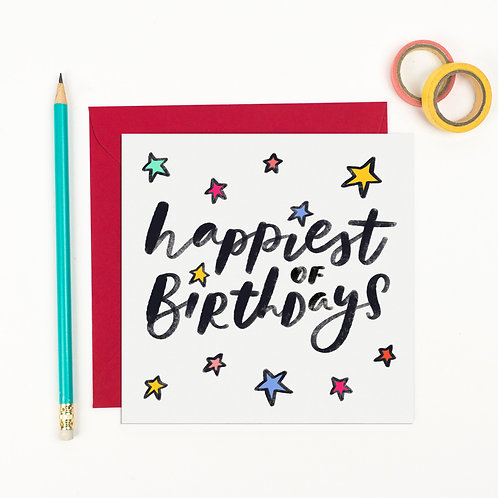 Happiest of Birthdays - Birthday Card