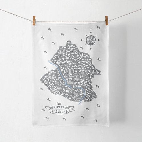 ST ALBANS TEA TOWEL