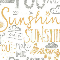 Jen Roffe You are my sunshine yellow and grey print