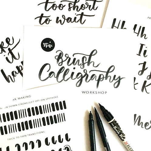 Brush Calligraphy Workshop Gift Voucher