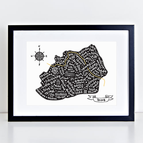 Black Map of Tring
