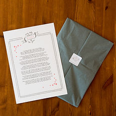Unframed print gift with hand drawn logo with stars