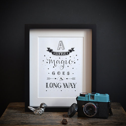 'A LITTLE MAGIC' UNFRAMED PRINT