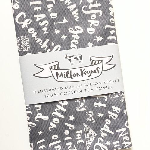 Milton Keynes Tea-towel Jen Roffe