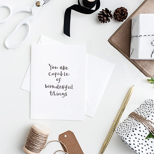 Wonderful things confidence card
