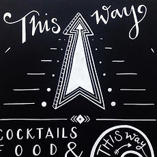 Jen Roffe Chalkboards outdoor party signage