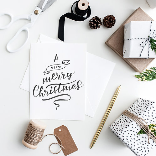 Festive Brush Lettering Workshop - Christmas Cards and tags