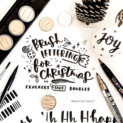 modern calligraphy workshop Christmas