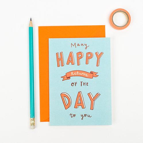 'MANY HAPPY RETURNS' BIRTHDAY CARD