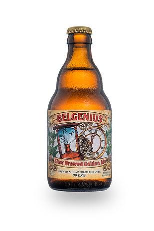 Belgenius slow brewed golden ale packsho