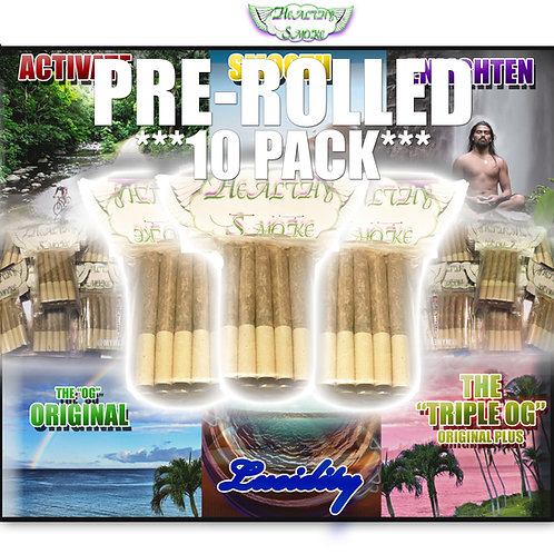 10 Pack Pre-Rolled